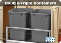 35QT Waste Bins and Recyclers