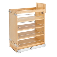 Rev-A-Shelf 448-BCSC-11C 11 Inch Base Organizer with Blum Soft-Close Slides for face frame Full Height Base Cabinet