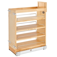 Rev-A-Shelf 448-BCSC-9C 9.5 Inch Base Organizer with Blum Soft-Close Slides for face frame Full Height Base Cabinet