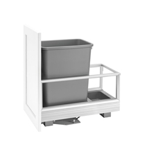 Rev-A-Shelf 5149-15DM-117 Rev-A-Motion Single 35-quart Bottom Mount Pull-Out Waste Container