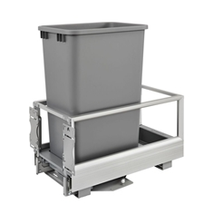 Rev-A-Shelf 5149-1550DM-117 Rev-A-Motion Single 50-quart Bottom Mount Pull-Out Waste Container