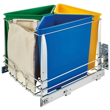 Rev-A-Shelf 5BBSC-WMDM24-C Quad Recycle Center with Soft-Close Bottom Mount slides