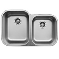 Karran U-6040R Undermount Stainless Steel Sink with Double Bowl 32 Inch