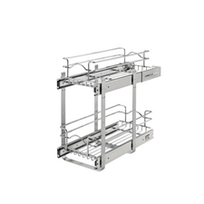 Rev-A-Shelf 5WB2-0918-CR Base Cabinet Pullout 2 Tier Wire Basket Reduced Depth Sink & Base