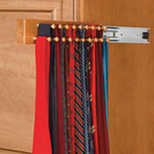 Rev A Shelf CWSTR-14-1 Tie Organizer Wood Side Mount Pullout for Closet - 14