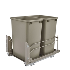 Rev-A-Shelf - 53WC-1835SCDM-212 - Double 35 Quart Pullout Waste Container Soft-Close