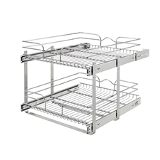 Rev A Shelf 5WB2-2122-CR Base Cabinet Pullout 2 Tier Wire Basket - 21