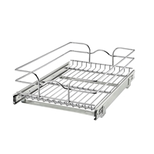 Rev A Shelf 5WB1-1522-CR Base Cabinet Pullout Single Wire Basket - 14 3/8