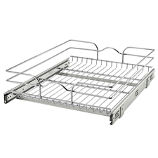 Rev A Shelf 5WB1-1822-CR Base Cabinet Pullout Single Wire Basket - 17 3/8