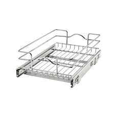 Rev A Shelf 5WB1-1218-CR Base Cabinet Pullout Single Wire Basket - 11 3/8