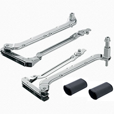 Blum AVENTOS HL 20L3900.06 HL Lift up Lever Arm (set) - CH=450-580 mm - Nickel plated