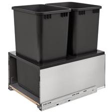 Rev-A-Shelf 5LB-1850SSBL-218 Double LEGRABOX Waste Containers - 2x50 qt - Black
