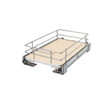 Rev-A-Shelf 5330-12BCSC-MP Base Cabinet or Under Sink Pullout Premiere Single Wire Solid Bottom Basket - 12