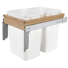 Rev-A-Shelf 4WCTM-18DM2 Double 35-QT Top Mount Pull Out Waste Container for 1-1/2