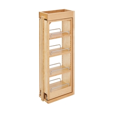 Rev A Shelf 432-WF-6C Filler Pullout Bamboo Organizer with Adjustable Shelves