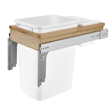 Rev-A-Shelf 4WCTM-12DM1 Single 35-Quart Pull Out Waste Container with Storage bin