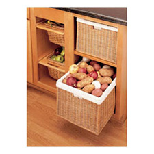 Rev A Shelf 4WB-1723-52 Static Rattan Basket with Canvas Liner