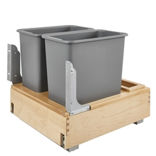 Rev-A-Shelf 4WCBM-2430DM-2 Double 30 Quart Rev-A-Motion Bottom Mount Pull Out Waste Container