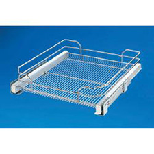 Rev A Shelf 5330-33-GS Base Cabinet Pullout Single Glass Basket (for 35