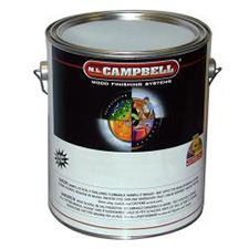 M.L. Campbell C118252 Aguabarnice Water Borne Clear Coating for Interior Wood Surfaces - Dull Finish