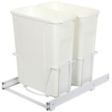 KNAPE & VOGT PSW15-2-20WH Double 20 Quart Bin Waste and Recycling Unit