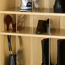 Rev A Shelf CSPD-6 Custom Storage for Closet - Acrylic Dividers - Clear