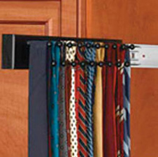 Rev A Shelf CWSTR-14B-1 Tie Organizer Wood Side Mount Pullout for Closet - 14
