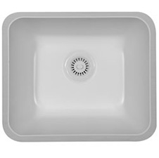 Monterey Acrylic Bisque Single Bowl Sink