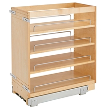 Rev A Shelf 448-BC-11C Base Cabinet Pullout Organizer with Wood Adjustable Shelves (11