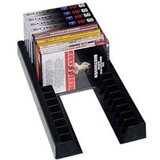 Rev A Shelf 370-ACN-10 Storage Rail DVD Organizer for Drawers - Black