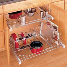 Rev A Shelf 5389-33CR Base Cabinet Pullout Cookware Organizer