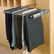 Rev A Shelf PSC-18CR Closet Organizer with Movable Fingers for Pants - 18