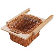 Rev A Shelf 4WB-320I 320mm Rattan Organizer Pullout Basket with Rails For Frameless Cabinet