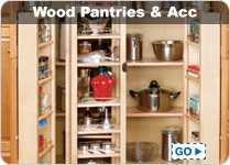Wood Pantries and Pantry Accessories