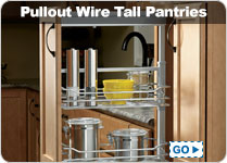 Pullout Wire Tall Pantries