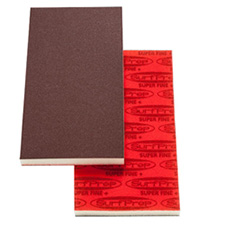 SurfPrep SPRF7HR060 Foam Sanding Pad 3-2/3x7x1/2 Inch 120-150 MED Grit Red A/O Box of 10