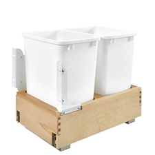 Rev-A-Shelf 4WC-18DM2 Double 35 Quart Bottom Mount Pull Out Waste Container