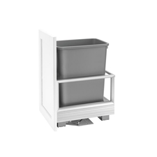Rev-A-Shelf 5149-15DM18-117 Rev-A-Motion Single 35-quart Bottom Mount Pull-Out Waste Container with 18