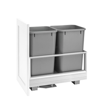 Rev-A-Shelf 5149-1527DM-217 Rev-A-Motion Double 27-quart Bottom Mount Pull-Out Waste Container