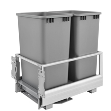 Rev-A-Shelf 5149-2150DM-217 Rev-A-Motion Double 50-quart Bottom Mount Pull-Out Waste Container