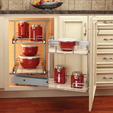 Rev-A-Shelf 599-18-RMP 2-Tier Blind Right Corner Cabinet - Right Door Mount - Maple