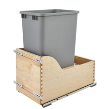 Rev-A-Shelf 4WCSC-1550DM-1 4WCSC Series 50 Quart Wood Bottom Mount Waste Container Kit with Blum Tandem Slides