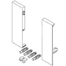 Blum Antaro ZIF.74D0 Front Fixing Left/Right Height-D R7037 GreyBlum Antaro ZIF.74D0 Support de Fixation Avant - Hauteur D - Gauche/Droit - R7037 - Gris