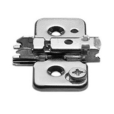 Blum 173H7100 Cruciform Cam Mounting Plate - Spacing: 0mm - Height: 8.5mm - Screw-inBlum 173H7100 Plaque de Fixation Cruciforme à Came - Écartement: 0mm - Hauteur: 8.5mm +/- 2mm - À Visser