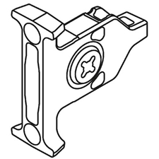 Blum ZSF.3502 (2x) Front Fixing Bracket - Screw-on