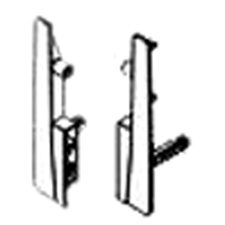 PRO Value Series M01031 Double Wall Fixing Brackets - Height M - Right + Left - Silver Grey