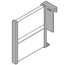 Blum Orga-Line Z43L100S 100mm Lateral Divider for High Fronted Pull-out - GreyBlum Orga-Line Z43L100S Séparateur Longitudinal pour Tiroirs à Faces Hautes - 100mm - Gris