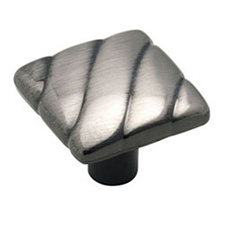 Amerock BP1825-PWT Design Details Collection Square Knob - 1 1/4