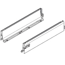 Blum TANDEMBOX Drawer Profile Set - M Height - Stainless Steel - 22