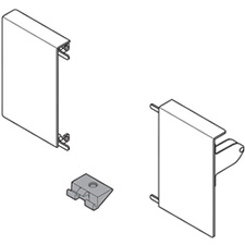 Blum Tandembox Intivo ZIF.80M0 Front Fixing Brackets - Nickel Plated